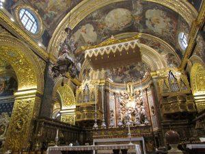 Wnętrze Konkatedry Św. Jana w Valletcie