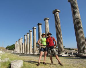 Stoa, czyli kolumnada w Asklepiejonie w Bergamie