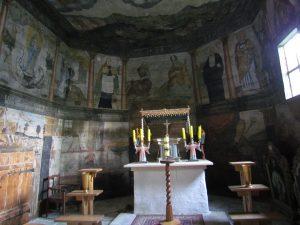 Polichromie w kościele w Trybszu