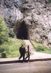 Przed Jaskinią Katerinską na Morawach w Czechach
