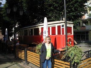Zabytkowy tramwaj w Słupsku