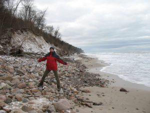 Na plaży w Jastrzębiej Górze