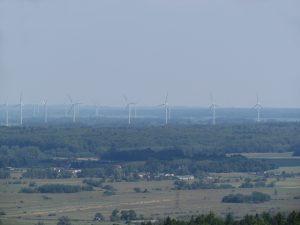 Widok z Góry Chełmskiej w Koszalinie