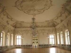 Sala w Pałacu Rundāle na Łotwie
