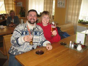 Na piwie Frantisek w Hucie szkła w Harrachowie
