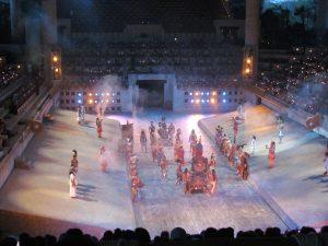 Spektakl historyczny w Xcaret