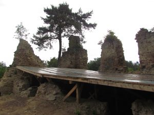 Ruiny zamku gotyckiego w Rożnowie