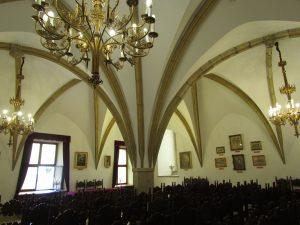 Sala gotycka na zamku żupnym w Wieliczce