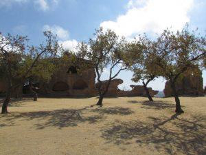 Mury w Agrigento czyli starożytnym Akragas
