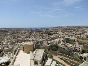 Widok z Cytadeli w stolicy wyspy Gozo, czyli miasteczka Victoria (Rabat)