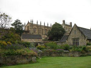 Jeden z ogrodów w Oxfordzie