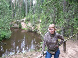 Dolina rzeki Ahja w Taevaskoja w Estonii
