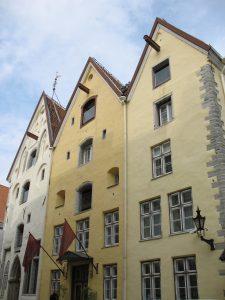 Kamienice Trzy Siostry w Tallinie w Estonii