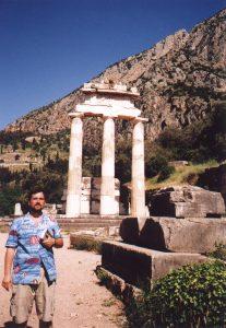 Tolos w Marmarii w Delfach w Grecji