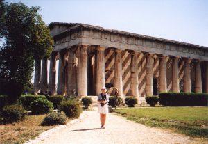 Tezejon na Agorze w Atenach w Grecji