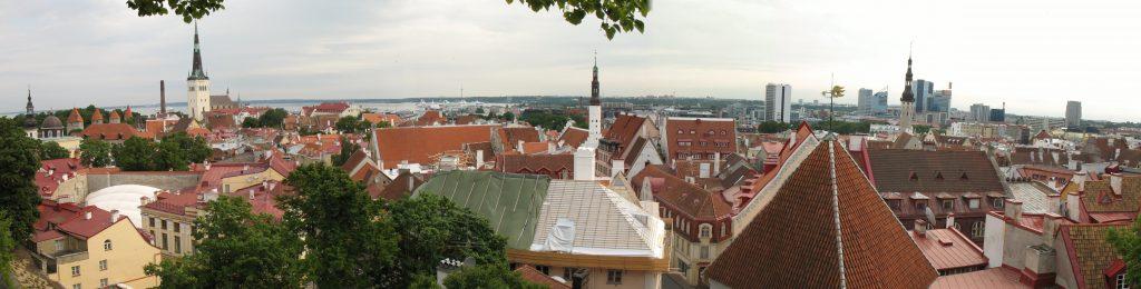 Panorama Tallina w Estonii