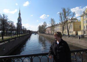 Nad Kanałem Kriukowa, w tle Sobór Św. Mikołaja w Petersburgu