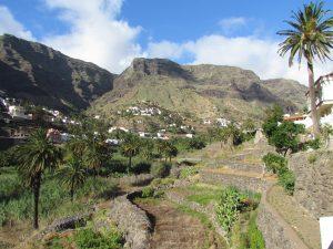 Widok z Casa Rural Guadá, czyli naszego domku na Gomerze