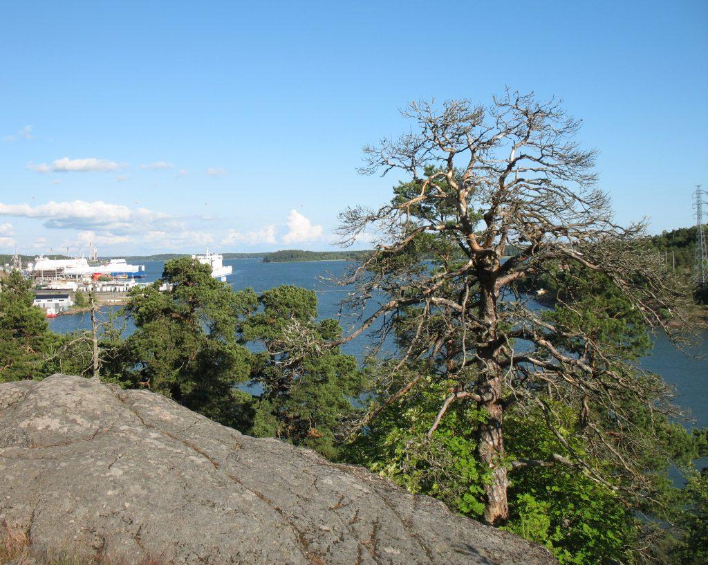 Widok z campingu w Naantali w Finlandii