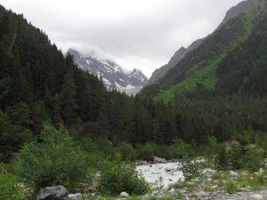 W drodze do lodowca Chalaadi