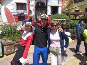 Monika wraz z Popeye-m i Olive