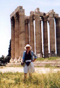 Świątynia Zeusa Olimpijskiego w Atenach w Grecji