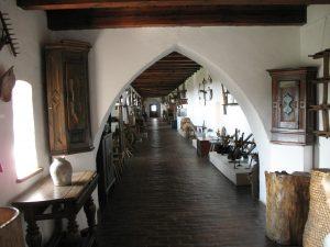 Wnętrza Zamku w Kwidzynie - wystawa etnograficzna w gdanisku