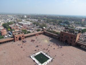 Widok z minaretu meczetu Dźama Masdźid