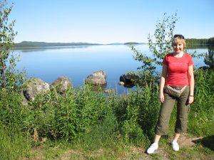 Krajobraz podczas jazdy po Finlandii