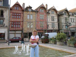 Domy szachulcowe w Troyes