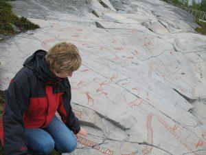 Prehistoryczne rysunki naskalne w miejscowości Alta w Norwegii