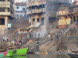 Ciałopalenie na Manikarnika Ghat
