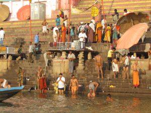 Rankiem w Waranasi