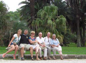 Cała nasza rodzina w Orto Botanico