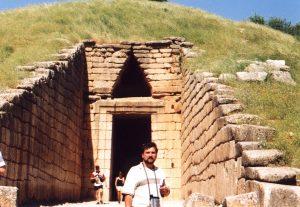 Słynny Grób Agamemnona w Mykenach w Grecji