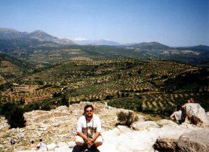 Widok z Cytadeli w Mykenach w Grecji