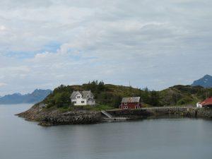 Malowniczy widok na Lofotach w Norwegii