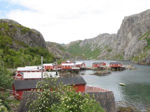 Nusfjord na Lofotach w Norwegii