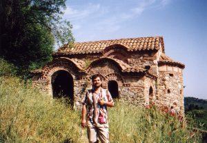 Kosciół Agios Georgios w Mistrze w Grecji