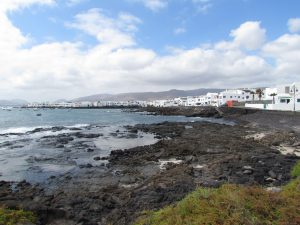 Droga z Punta Mujeres do Jameos del Agua na Lanzarote