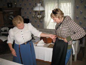 W zakładzie krawcowej w skansenie Jamtli w Östersund w Szwecji