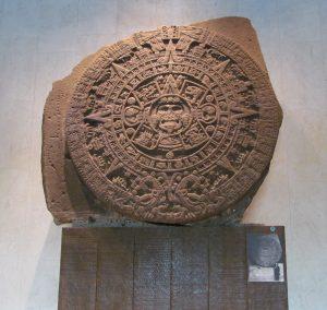 Kalendarz Azteków w Museo Nacional do Antropologia
