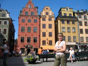 Główny Rynek (Stortorget) w Sztokholmie w Szwecji