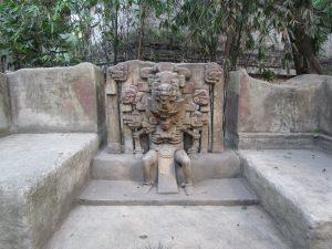Wystawa zewnętrzna w Museo Nacional de Antropologia