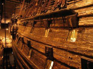 Okręt Vasa w Vasamuseet w Sztokholmie w Szwecji