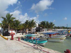 Przystań w Puerto Juarez