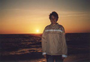 Zachód słońca nad Oceanem Atlantyckim w miejscowości Lavra