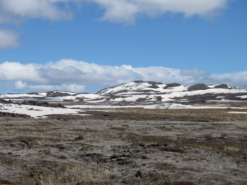 Krajobraz Islandii - W kraterze wulkanu Krafla