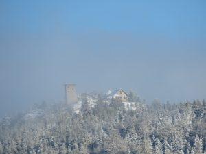 Poranny widok z balkonu Hotelu Kryształ na Wysoki Kamień