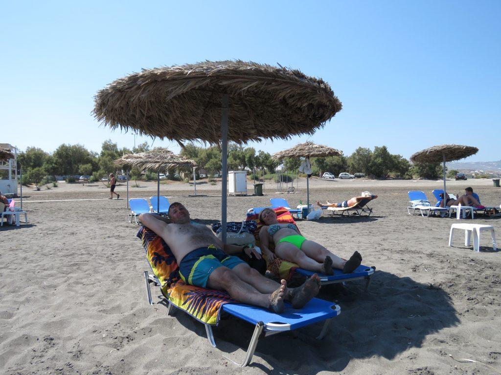 Na plaży Monolithos Beach